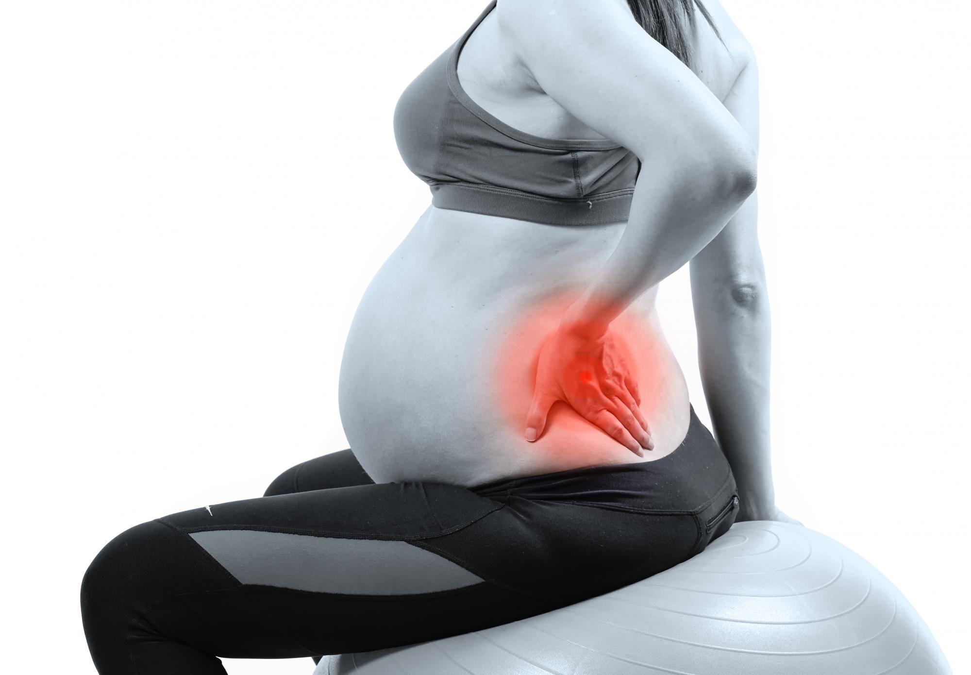 Боль в спине у женщин - беременная рис3
