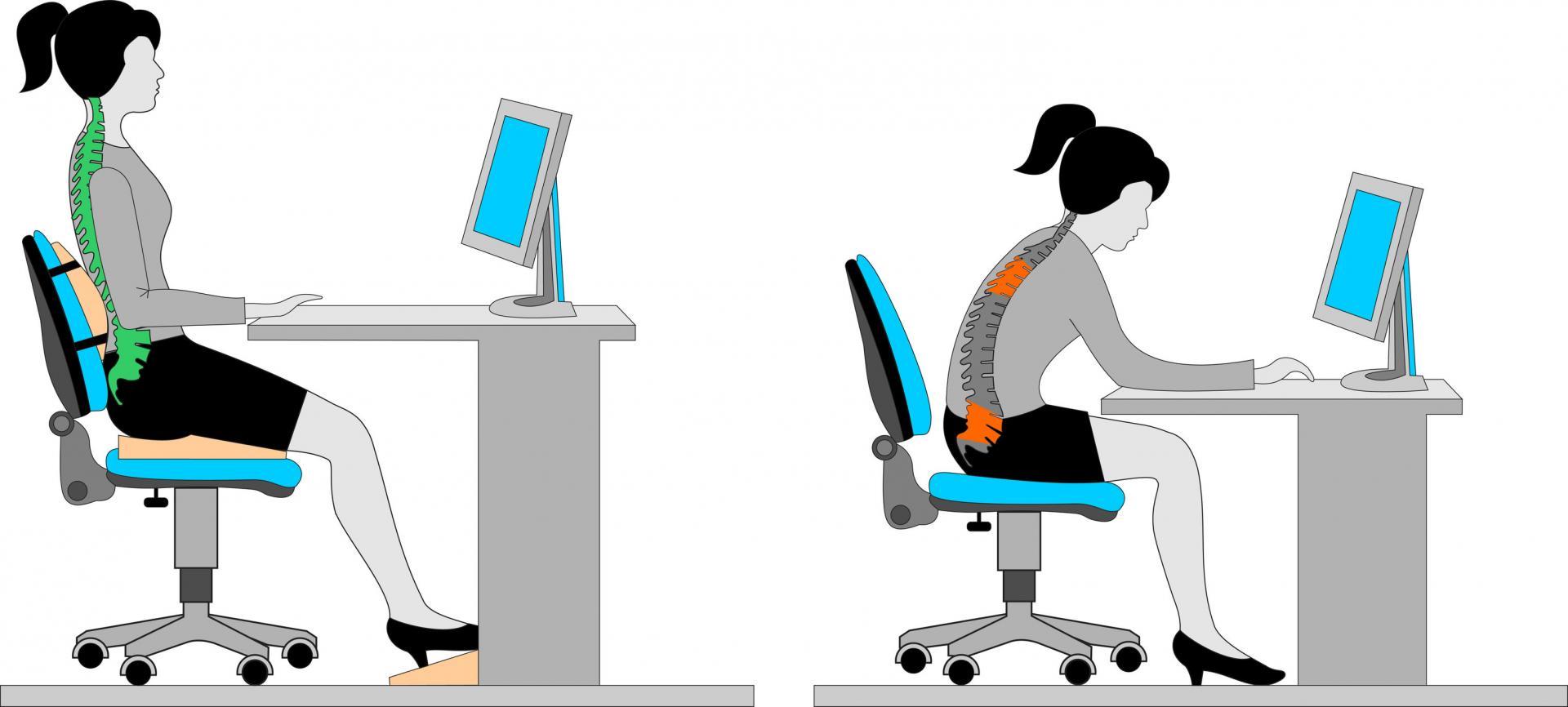 посадка при работе за компьютером