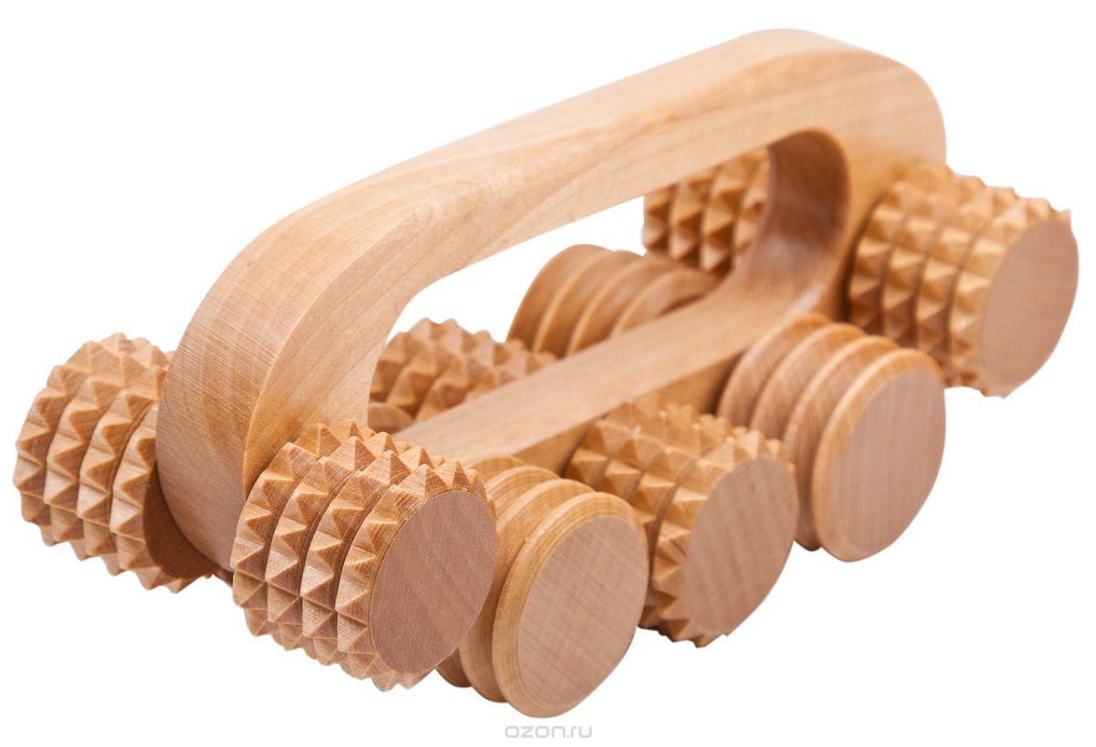 деревянный роликовый массажер